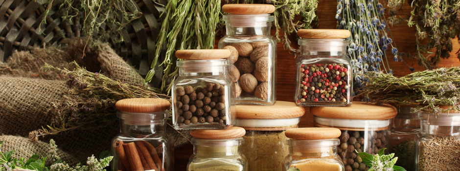 dried herbs and spices