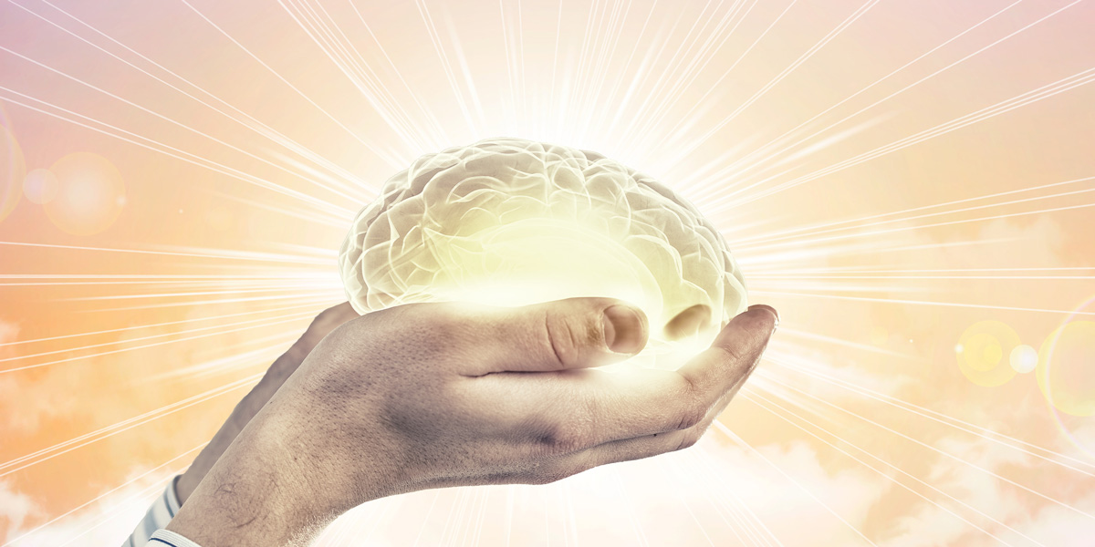 Shining Brain in hands