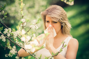 Girl with Allergy to Apple Blossoms