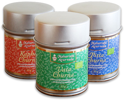 Vata, Pitta and Kapha Churnas - 35g tins