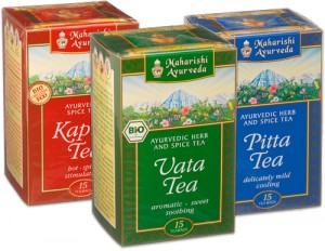 Vata, Pitta and Kapha Teas