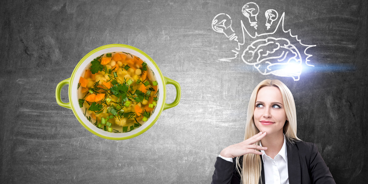 vegetable soup and brain power
