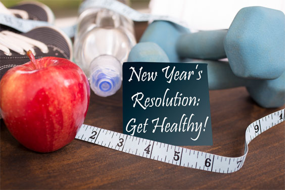 New year's resolution: get healthy.