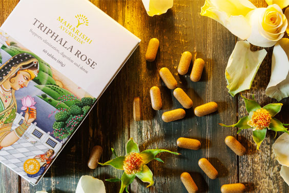 Triphala Rose is available in a handy 60g flat pack.