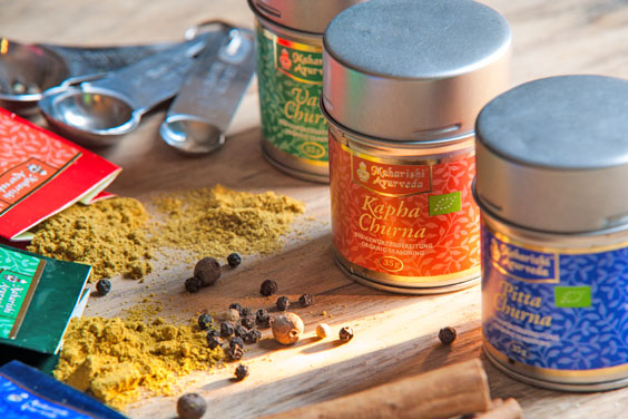 Maharishi AyurVeda seasoning blends.