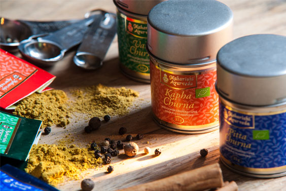 Specially prepared Ayurveda spice blends add flavour and balance.