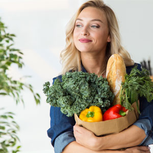 Fill your grocery cart with fresh, organic fruits and vegetable