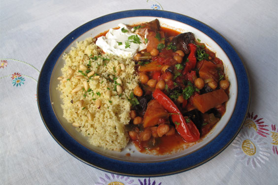 This Moroccan Tagine looks impressive, but is very easy to make. The slow cooking brings a depth of flavour which you don't get with more quickly-cooked meals.