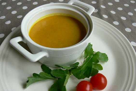 Squash & coconut soup