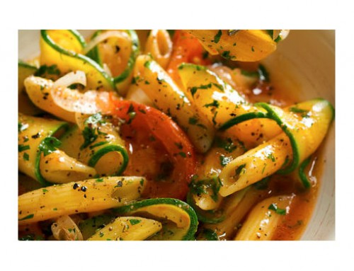 Celebrating Summer Healthy Eating – Summer Pasta with Cream Sauce