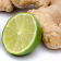 Ginger root and lime fruit