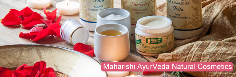 Maharishi AyurVeda offers a range of carefully formulated face, body and hair products