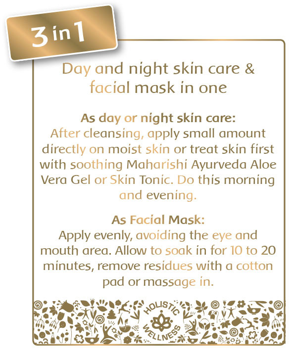 Day and night skin care & facial mask in one