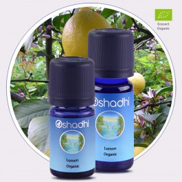 Lemon Organic Essential Oil (Oshadhi) 10ml