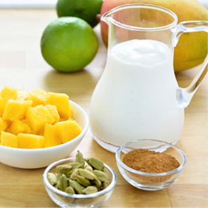 Ingredients for mango Lassi