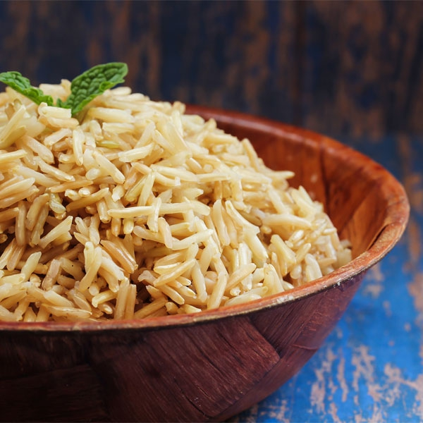 Prepared brown basmati rice
