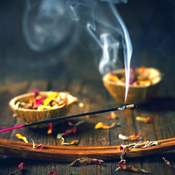 Burning incense illustration