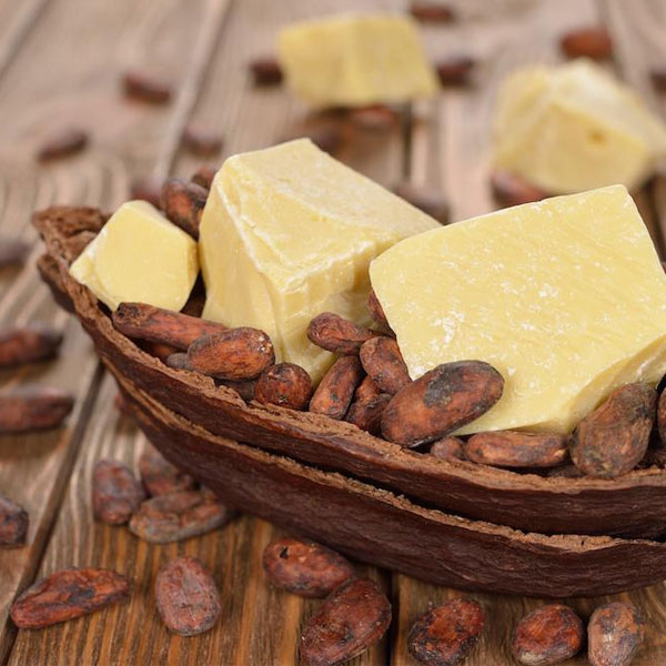 Cocoa butter with cocoa seeds
