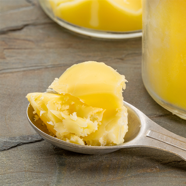 Ghee (clarified butter) illustration