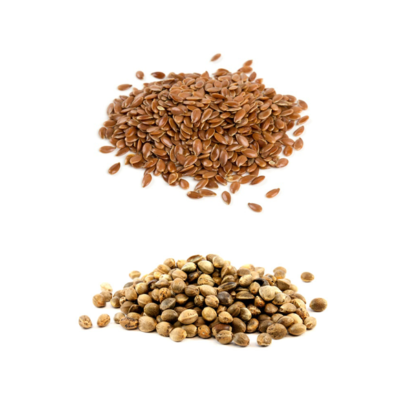 Linseeds (Flaxseeds) and Hemp Seeds